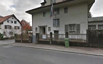 Здание консульского отдела посольства России в Швейцарии