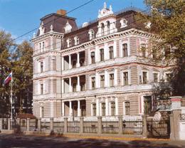 Здание посольства России в Латвии
