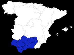Карта почётного консульства России в Севилье