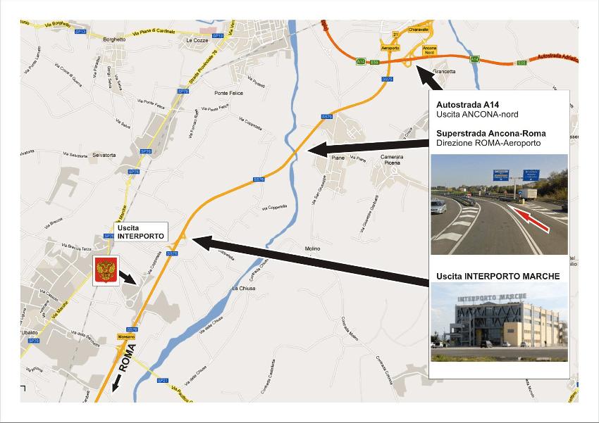 Карта почётного консульства в Анконе