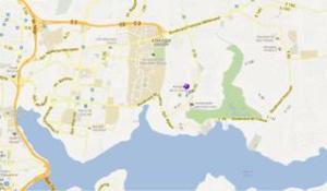 Карта размещения посольства России в Кот-д'Ивуаре