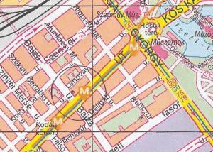 Карта расположения посольства России в Будапеште