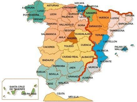 Консульские округа в Испании