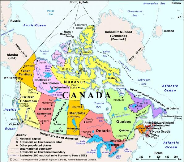 Консульские округа в Канаде