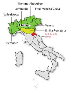 Консульские округа генконсульства России в Милане