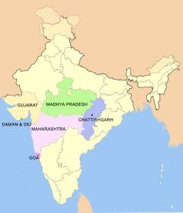 Консульский округ генконсульства России в Мумбаи