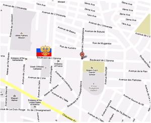 Координаты посольства России в Бурунди
