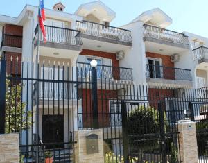 Здание посольства России в Черногории