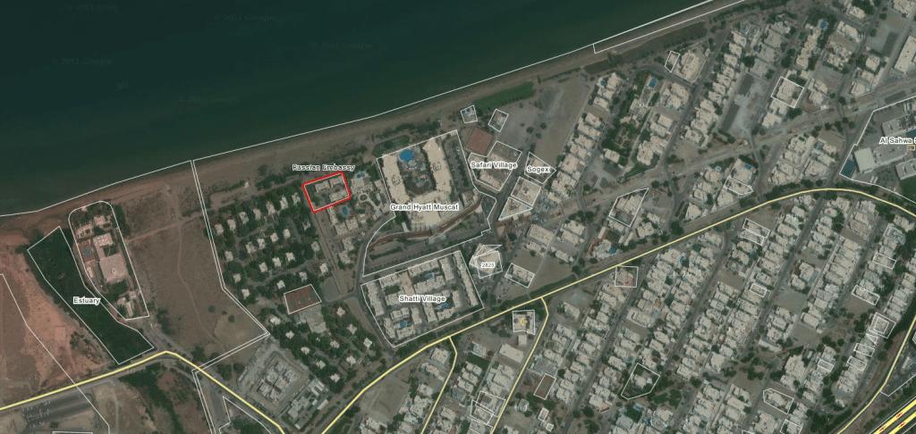 Карта посольства России в Омане
