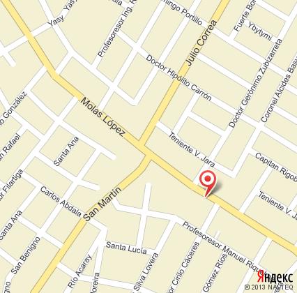Карта посольства России в Парагвае