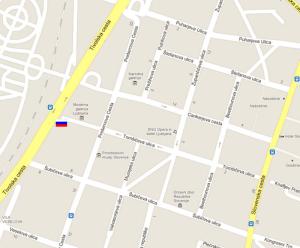 Карта посольства России в Словении
