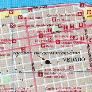 Схема Торгпредства России в Гаване