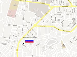 Карта посольства России в Эритрее