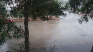 Дождь в начале весны в Анталье