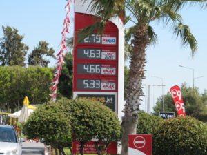 Цена бензина в Анталье