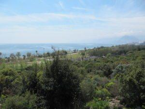 Вид на Бич парк из парка Ататюрка