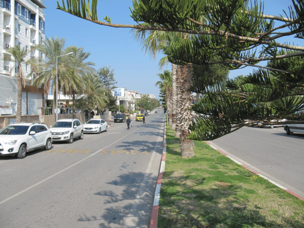 Вид с южной части бульвара Гази Мустафа Кемаль на север