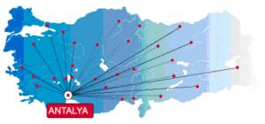 Схема из аэропорта Антальи