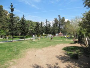Фитнес площадка в парке Ататюрка