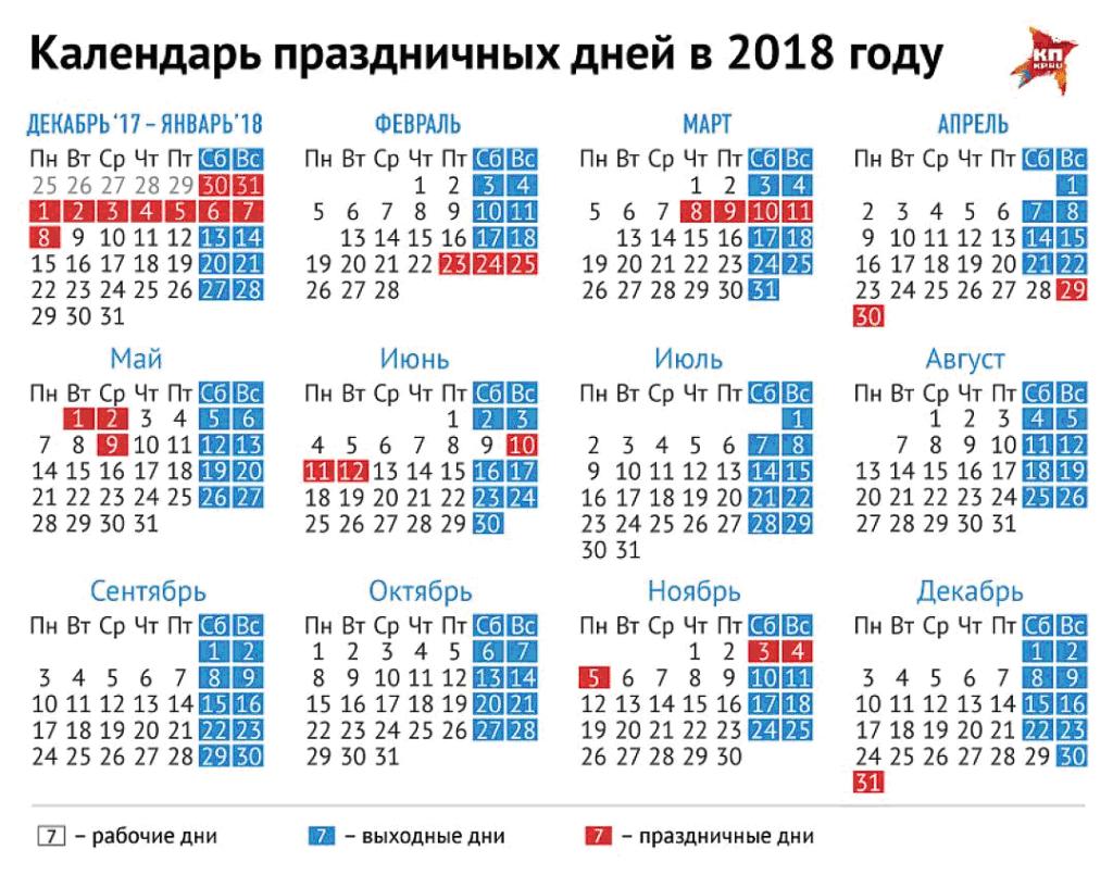 Выходные и праздничные дни в сентябре 2017 г. в России