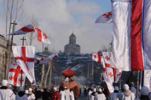 Выходные дни в Грузии в январе 2018 года.Рождество