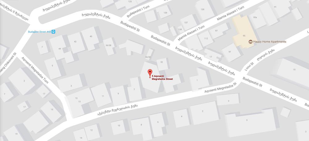 Карта Посольства Беларуси в Грузии