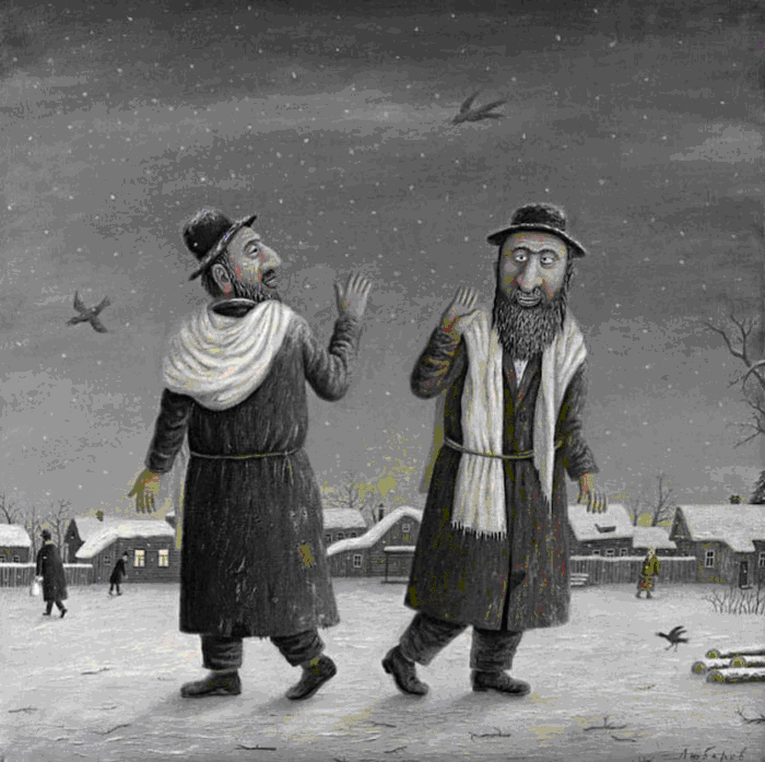 Анекдоты Встречаются два еврея…